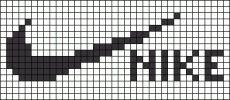 marque - make - nike -  point de croix - cross stitch - Blog : http://broderiemimie44.canalblog.com/