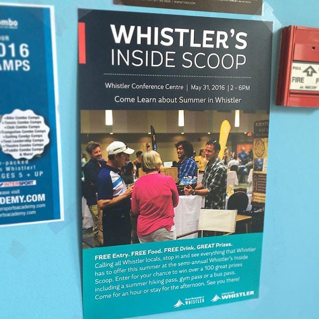 Look around the village for this poster with @whistlerphotosafaris booth and guides this year for @gowhistler annual Inside Scoop tourism trade show! What an amazing event! See you Tuesday May 31st 2:00-6:00pm at the Whistler Conference Center #freeentry #whistlertourism #bearsafaris #touroperators @bradoerksen @mrmikeball @bohopro