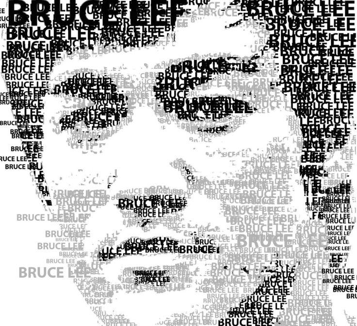 A mosaic. #Bruce Lee