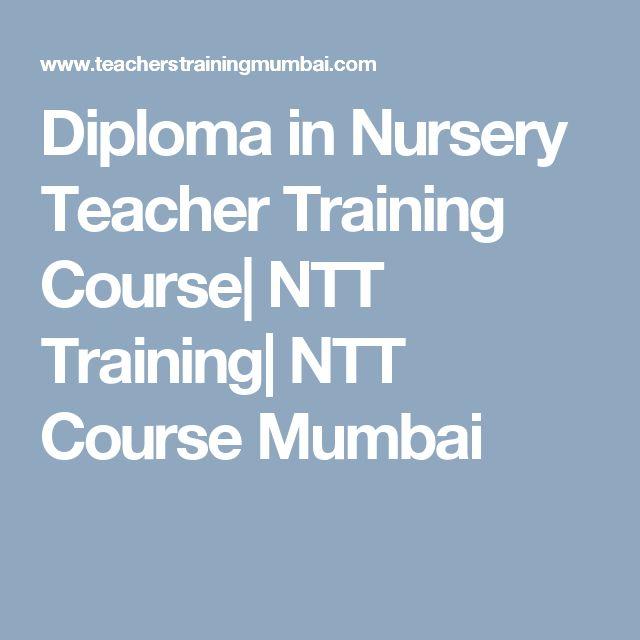 Diploma in Nursery Teacher Training Course| NTT Training| NTT Course Mumbai