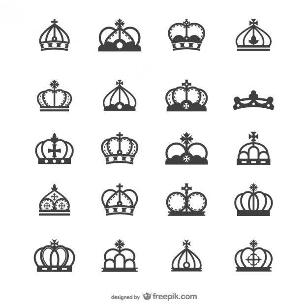 ヨーロッパの王冠のシルエットベクトル 無料ベクター