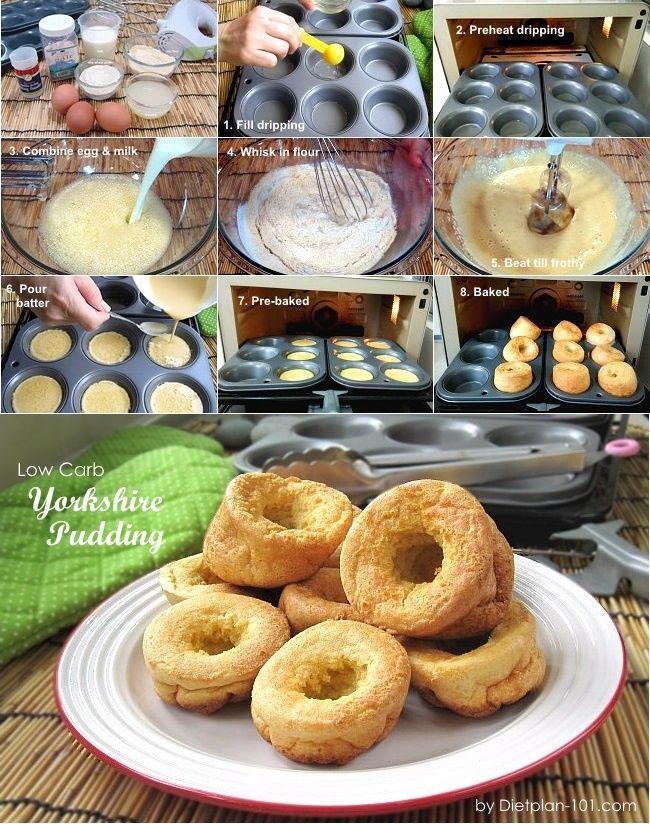 Low Carb Yorkshire Pudding (Atkins Diet Phase 2 Recipe)   Dietplan-101.com