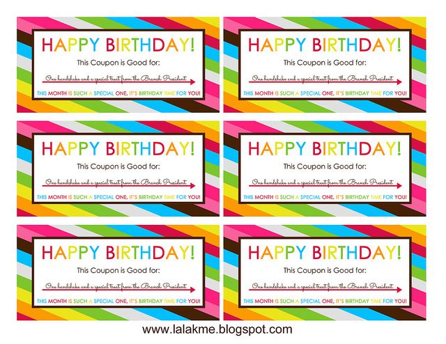 Cute printable birthday coupons for kids. They're blank, so they can be for anything you want!