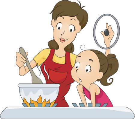 Mother cooking clipart cooking clipart mom cooking dia for Art cuisine evolution 10 piece cooking set