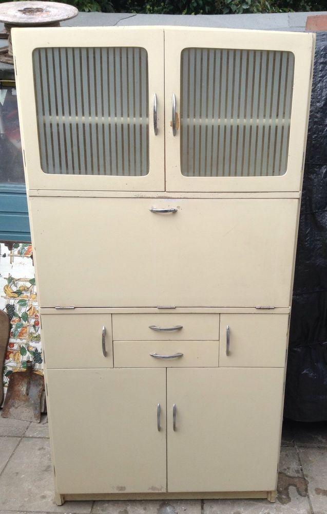 50s Hygena Kitchen Larder Cabinet Unit Kitchenette Vintage Retro in Home, Furniture & DIY, Furniture, Cabinets & Cupboards | eBay
