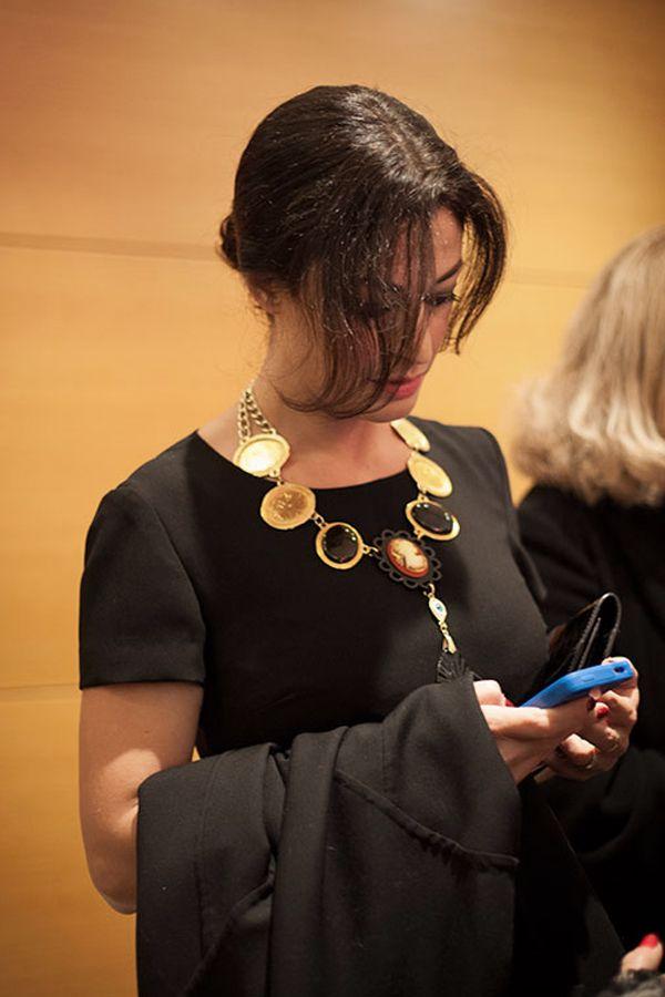 "Kondylatos Jewellery @ thetrendreport.gr La Passione by  thetrendreport.gr photo_by George Angelis http://www.thetrendreport.gr Dorotea Mercuri wears Kondylatos ""Black Death"" necklace"