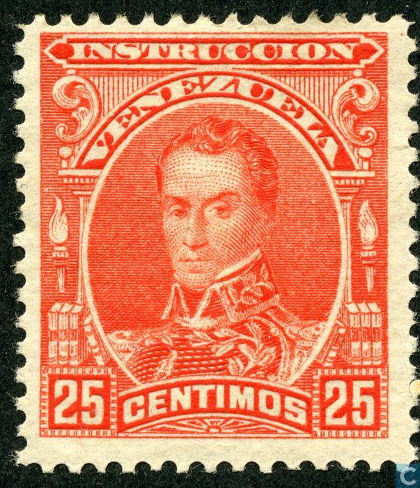 Stamps Venezuela Simon Bolivar 1904 Estampillas De Venezuela Pinterest Country