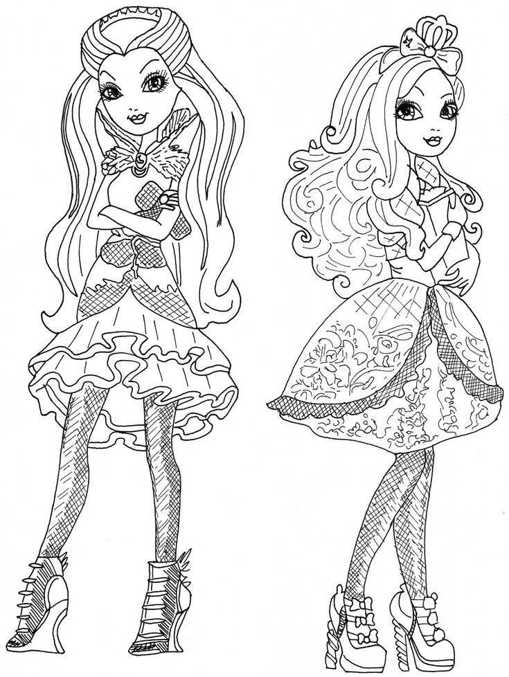 17 Best Images About Ever After High Coloring Pages On
