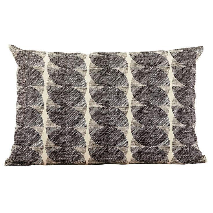 Circle tyynynpäällinen 40x60, musta/valkoinen – House Doctor – Osta kalusteita verkossa osoitteessa
