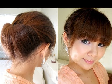 Hair Tutorial: 2 Minutes Updo for Work - YouTube