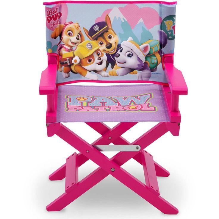 Kids Director's Chair PAW Patrol Skye and Everest Toddler Children Seat Girls #NickJr