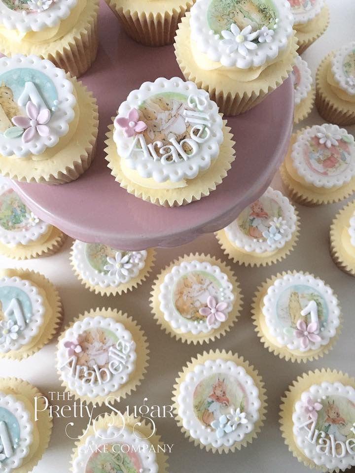 Pretty Beatrix Potter Peter Rabbit cupcakesw
