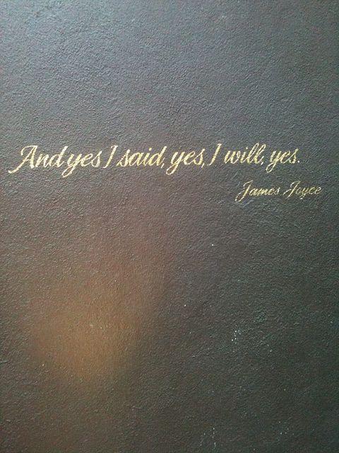 james joyce quotes   James Joyce quote at Coco de Mer LA   Flickr - Photo Sharing!
