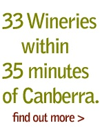 The tranquil rural countryside around the ACT is home to 140 vineyards with more than 33 wineries with 35 minutes of Canberra. 14-15 April