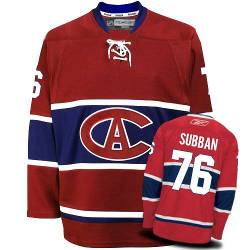 P.K Subban Jersey-Buy 100% official Reebok P.K Subban Men's Premier New CA Red Jersey NHL Montreal Canadiens #76 Free Shipping.