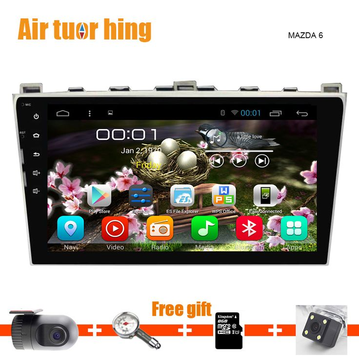 Quad Core Car gps DVD player Android 5.12 navigation For Mazda 6 2009 -2015 mazda6 Raptor S-Cross Atenza Radio Bluetooth 16g 1G