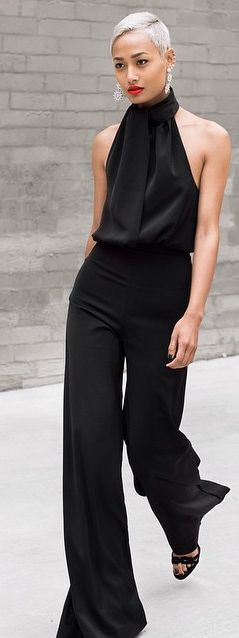 Chic in the street - Halter Jumpsuit by Micah Gianneli