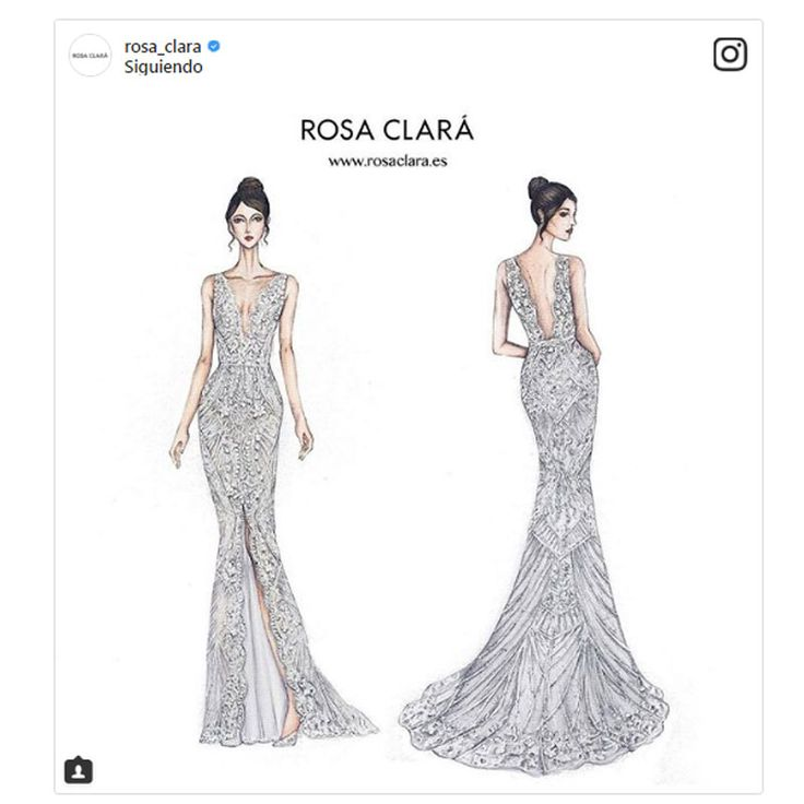 Se desvela el segundo vestido de novia de Antonella Rocuzzo
