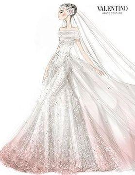 valentino wedding dress sketches pinterest | Valentino-Couture-Wedding-Dress-Sketch | Croquis | Pinterest