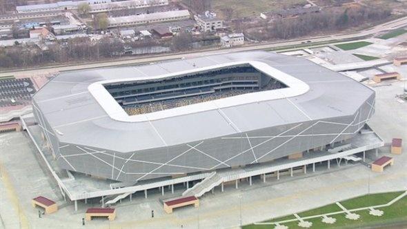 Lemberg Stadium in Lviv, Ukraine (seats 30,000, completed in 2011)