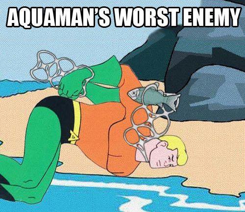 #lmao NOT AGAIN #Aquaman ... I told you not to go near those again!  Follow for more #geektent all day everyday!  #lmfao #lolz #lol #funny #haha #hilarious #superhero #justiceleague #wft #dc #dccomics #dcuniverse #comics #comic #comicbooks #hehehe #hahaha #heh #geek #geeky #nerdy #nerdygirl #nerd  #batman #superman #wonderwoman #greenarrow