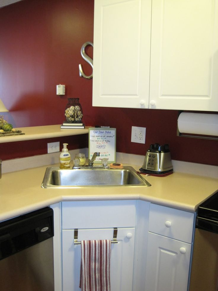Adorable Corner Sink Ideas For Small Kitchen Room