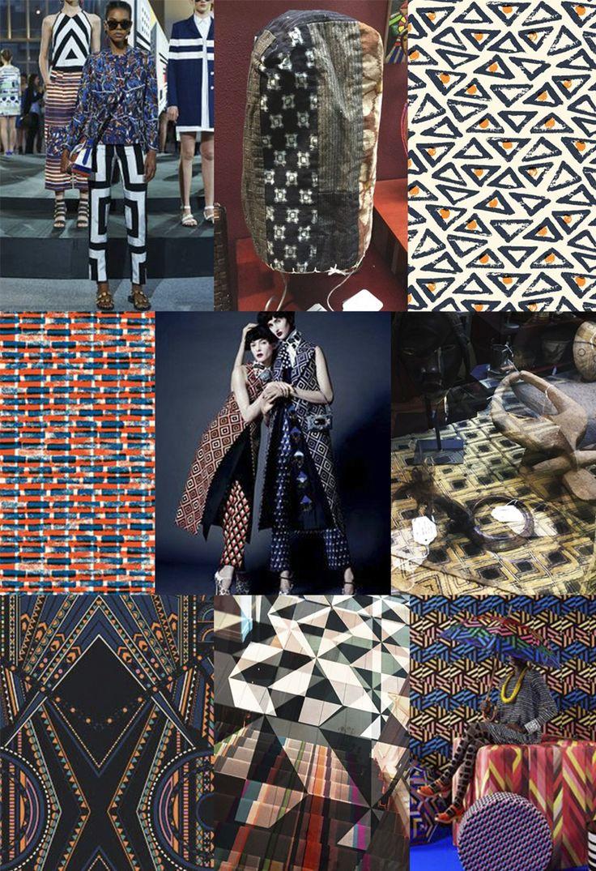 F/W 2017-18 women's pattern & colors trends: World gemetry