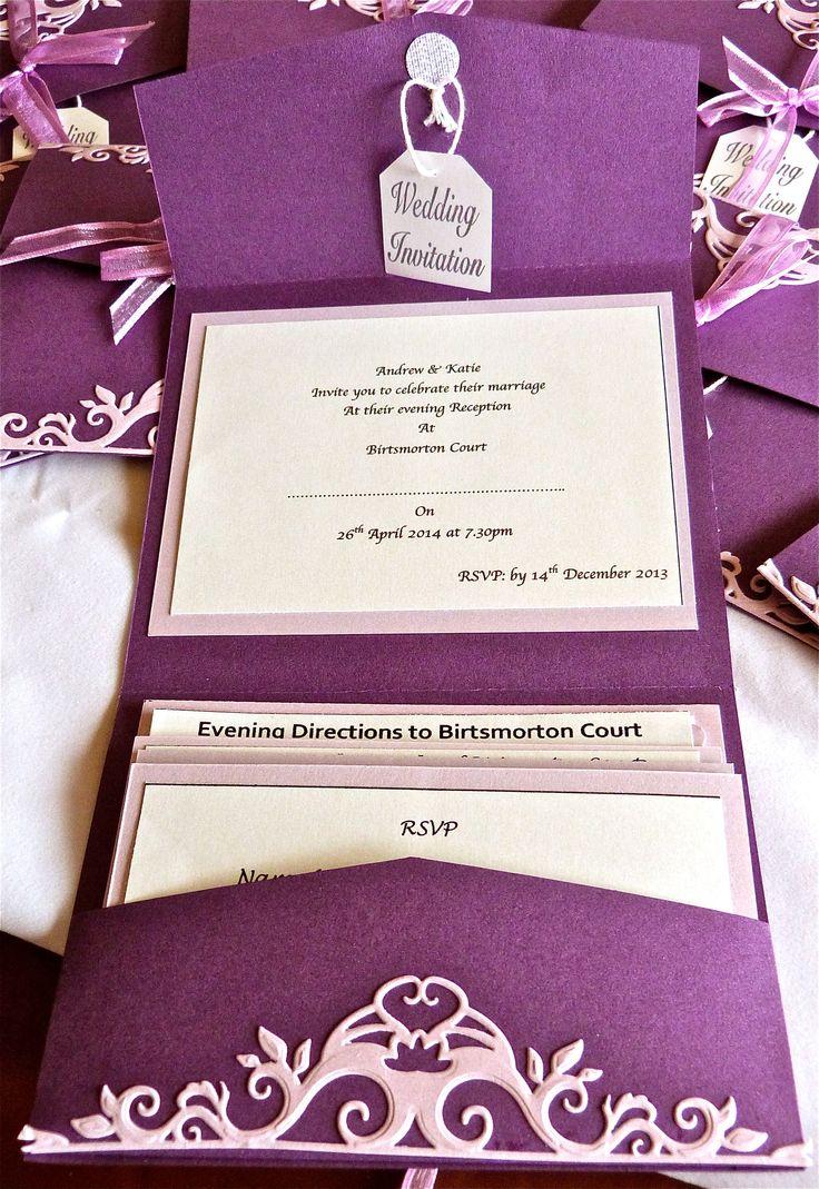 Inside the wedding invitation wallet.