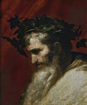 """Cabeza del dios Baco (fragmento de """"El triunfo de Baco"""")"""