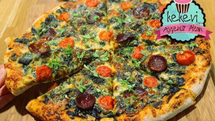 Pizza Tarifi (Bol Malzemeli, Sebzeli) Yedikten sonra dışardan almak istemeyeceksiniz / Ayşenur Altan - YouTube