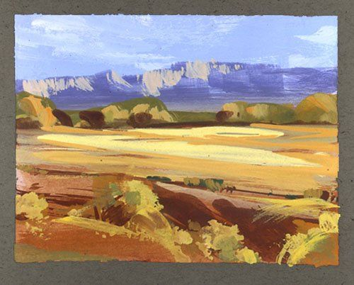 Nathan Fowkes gouache sketch | Art | Watercolor art ...