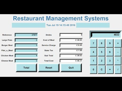 11) How to Create a GUI Restaurant Management Systems in