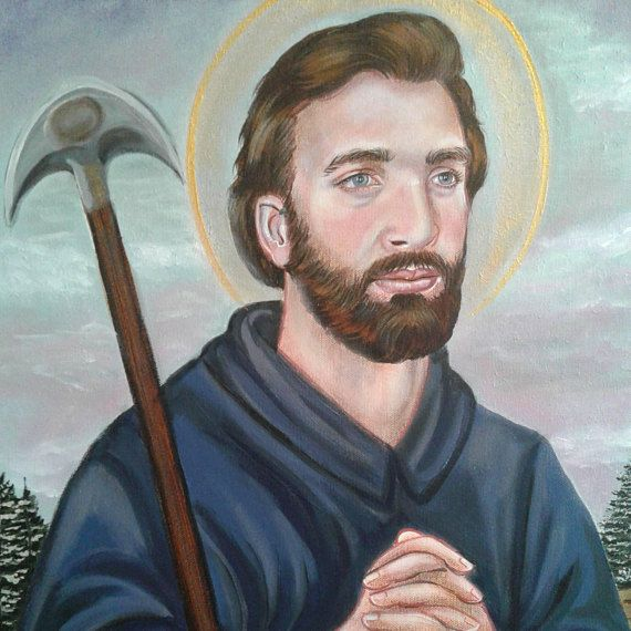 St Isidore the Farmer Confessor Spanish Farmer 16 x