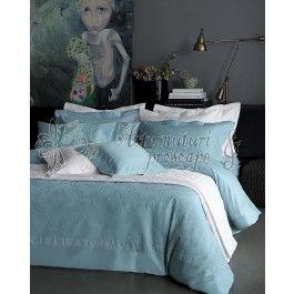 Valeron La Mer alb - cuvertura de pat de lux din bumbac 220x240 cm