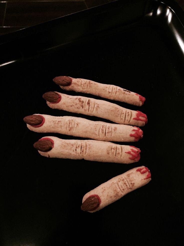Witch fingers. Halloween cookies.