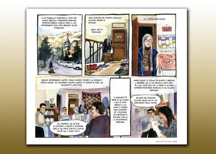 """""""La sala d'attesa"""" di Sarah Glidden. Nuvole di confine AAVV Museo Internazionale dell'Umorismo, Palazzo Sangallo, Tolentino. 14 aprile - 16 settembre 2012"""