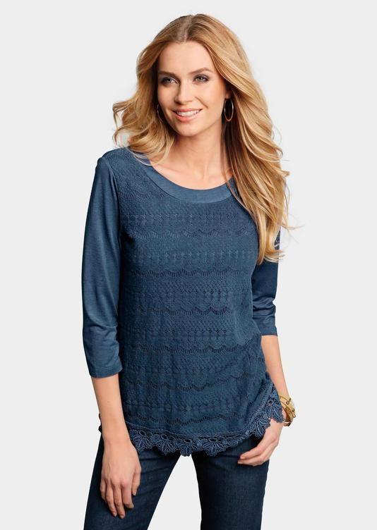 Shirt jeansblau - atelier goldner schnitt