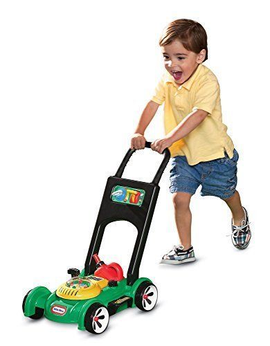 Kids Push Toy Mower w/ Popping Beads Fun Pretend Play Lawn Mower Car Toddler #LittleTikes