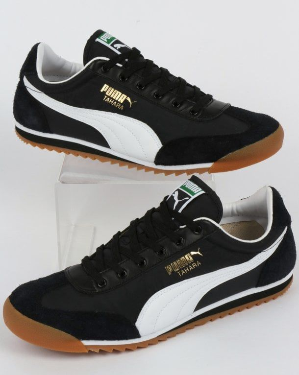 new style 7dd4f 957ce Puma Tahara OG Trainer Black White,retro,indoor,football,nylon,suede,shoes