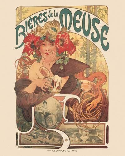 Bieres de la Meuse 1897- Mucha