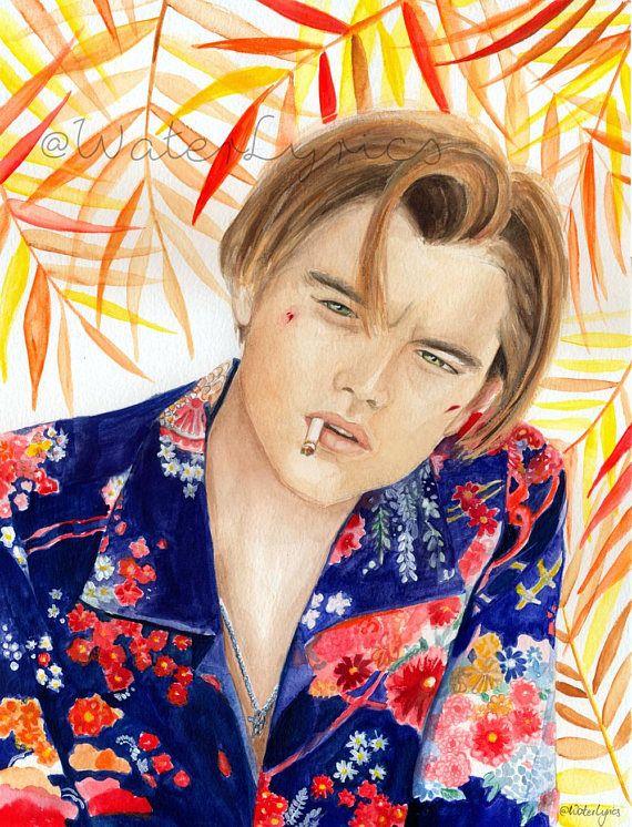 Watercolor painting of Leonardo DiCaprio // Romeo  Juliet