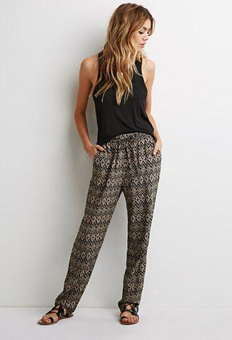 Diamond Print Pants | Forever 21 - 2000079268