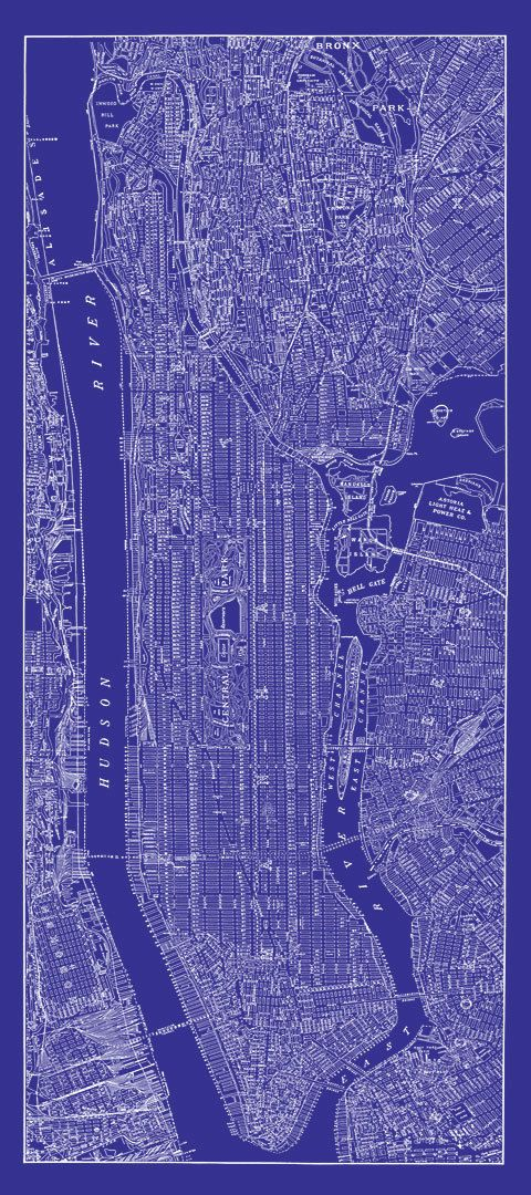 New York City Karte 1938 Street in New York City von TheMapShop, $39.95