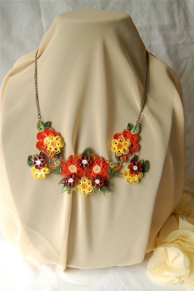 Autumn Quilling Necklace