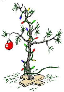 Free Charlie Brown Clip Art | Free Clipart Picture of a  Charlie Brown Scrawny Christmas Tree