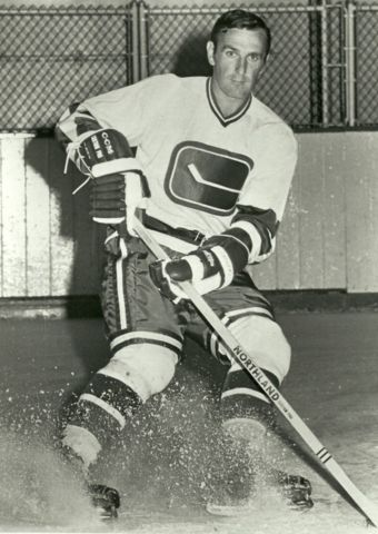 Poul Popiel with the first year Vancouver Canucks, 1970-71.