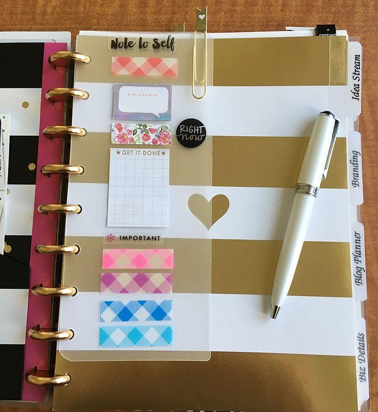 DIY Dollar store cutting mat planner dashboard