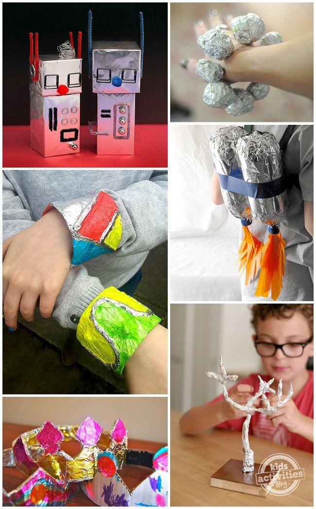 30 Aluminum Foil Crafts & Art Activities – everyday frugal fun!