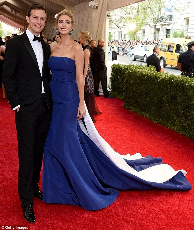 A perfect pair: Ivanka attended the Gala with husband and real estate mogul Jared Kushner, who looked dashing in his tux and bow-tie