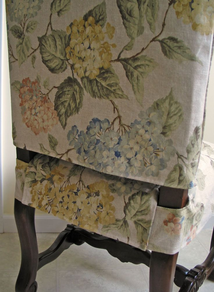 Goodbye, House. Hello, Home! Blog : Dining Chair Slipcover- Pictorial Tutorial